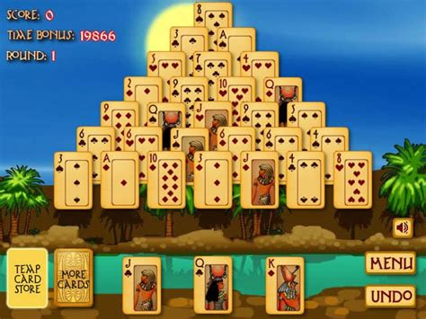 pyramid solitaire ancient egypt game funnygamesorg