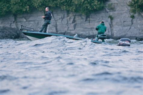 Bass Boat In Rough Water by Rough Water Flw Fishing Articles