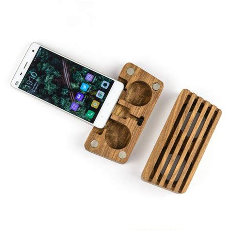 wooden phone speaker iphone speaker amplifier dock station