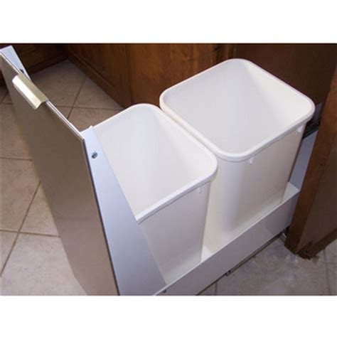 sliding trash can under sink pull out built in trash cans cabinet slide out under sink