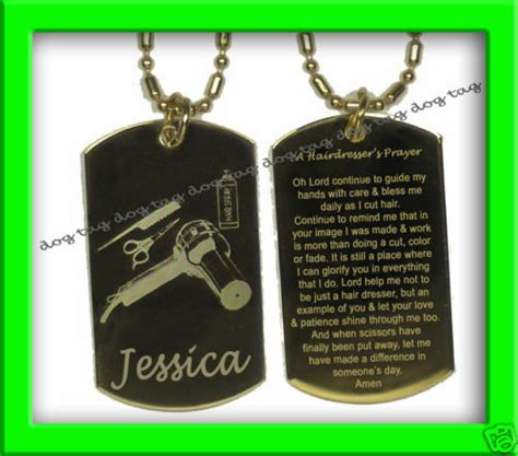 hairdressers prayer hair cuttery dog tag personalized ebay