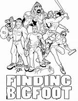 Bigfoot Coloring Pages Finding Print Sasquatch Colouring Rictor Lineart Riolo Ages Books Birthday Deviantart Discover sketch template