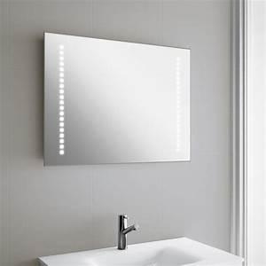 miroir lumineux led salle de bain 80x60 cm horizontal With miroir salle de bain led 80 cm