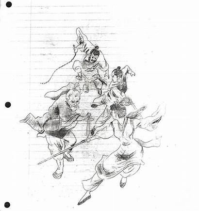 Bruce Lee Drawing Martial Sketches Arts Draw