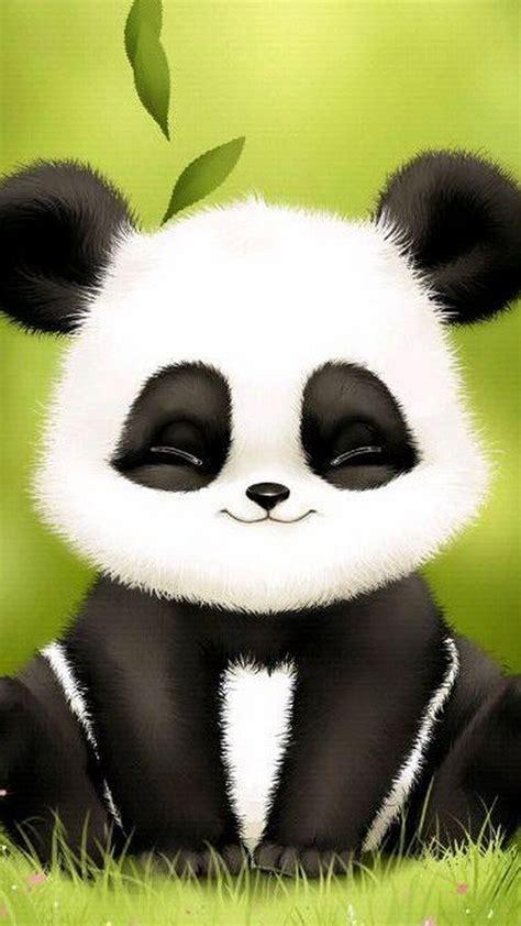 cute panda wallpaper  phone ilustracao de panda