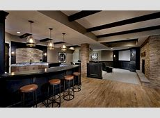 Man Cave with Wall sconce by Master Remodelers Zillow
