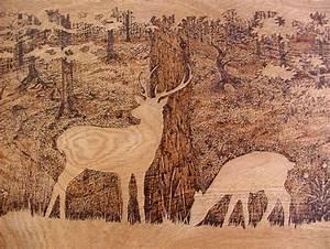 Pyrogravure Sur Bois Professionnel : la pyrogravure avec l 39 artiste leroc ~ Nature-et-papiers.com Idées de Décoration