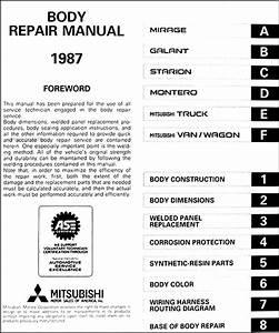 1987 Mitsubishi Body Manual Original