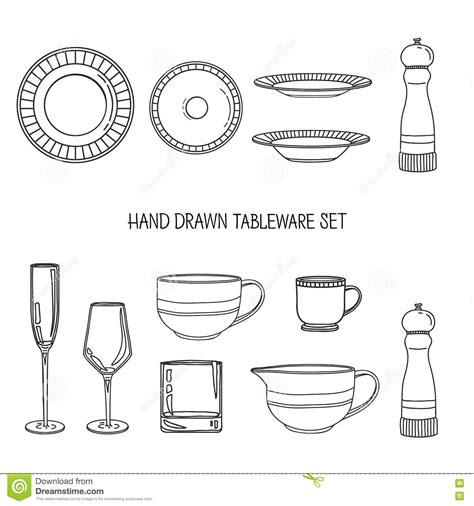 dessin evier cuisine positionnement d 39 ustensile de cuisine une vaisselle de