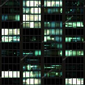 Office Building at Night Seamless Texture Tile — Stock ...