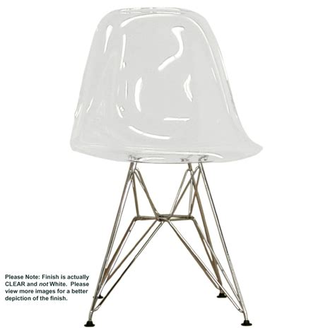 wholesale interiors set of two clear acrylic side chairs