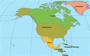 North American Continent Map America