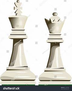 White King Queen Chess Pieces Stock Vector 14734798 ...