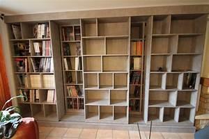 Fabriquer Une Bibliothèque Murale : mobilier sur mesure lynium metz agencement bibliotheques salons ~ Louise-bijoux.com Idées de Décoration