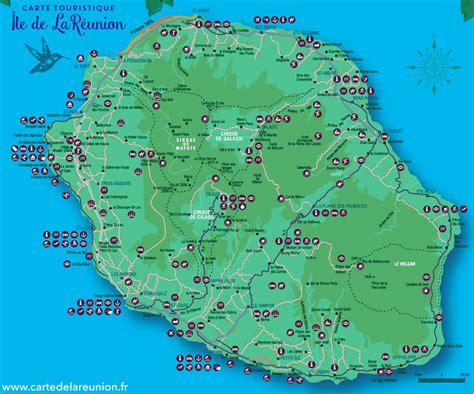 Ile De Tourisme Carte by La R 233 Union Carte Touristique Voyages Cartes