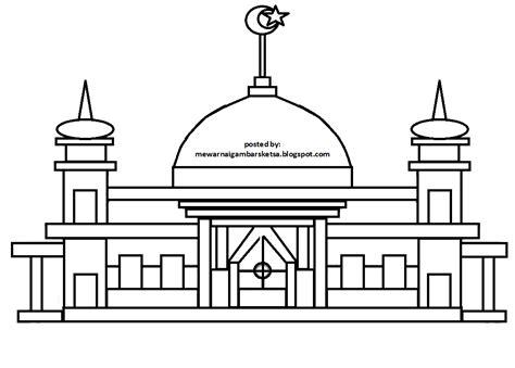 gaya terbaru 27 gambar masjid hitam putih warna