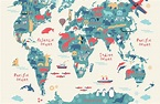 Free Blank Interactive World Map For Children & Kids In ...