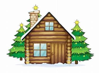 Clip Clipart Christmas Santa Reindeer Cottage Claus