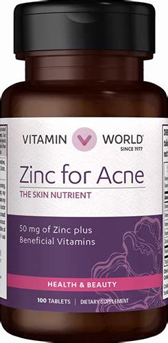 zinc  acne  vitamin world