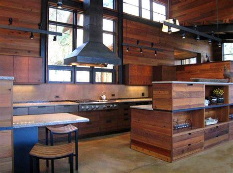 cedar wood kitchen cabinets salvaged cedar wood panels the kitchen walls in this