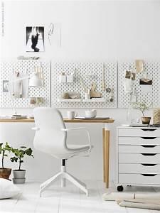 Ikea Bürostuhl Weiss : sk dis lochplatte kombination wei arbeitszimmer pinterest arbeitszimmer buero und ~ Frokenaadalensverden.com Haus und Dekorationen