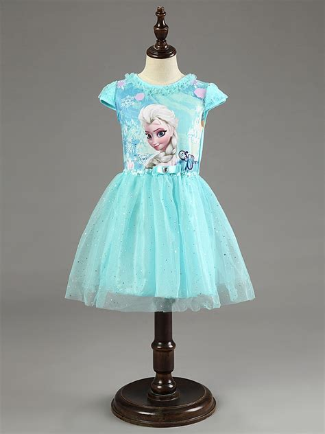 berngi  elsa anna dress girls dress cosplay party