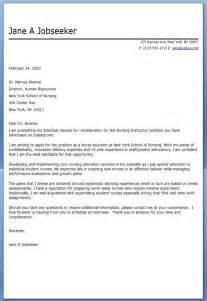 resume cover letter nursing resume cover letter sle