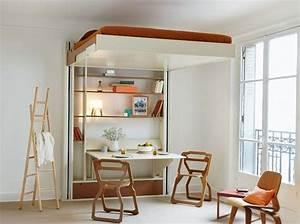 Lit Petit Espace : 40 meubles modulables pour optimiser l 39 espace elle ~ Premium-room.com Idées de Décoration