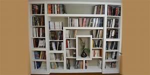 Bibliothèque Murale Contemporaine : fabriquer bibliotheque en soupente ~ Teatrodelosmanantiales.com Idées de Décoration