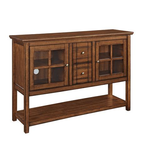 Buffet Table Ls Walmart by Walker Edison Brown Wood Console Table Buffet Tv Stand