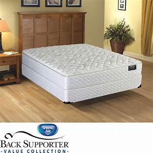 spring air cascade euro top value back supporter king size With best deals on king size mattress sets