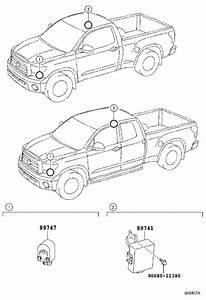 2008 Toyota Tundra Keyless Entry Receiver  Electrical