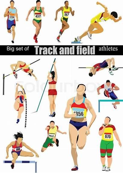 Track Field Clipart Athletes Athlete Illustration Vector