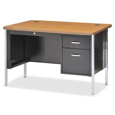 desk 55 inches wide lorell fortress series single ped teacher 39 s desk 30