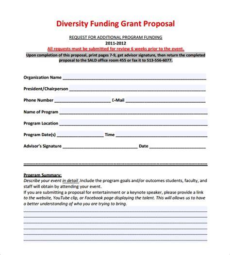 funding proposal templates     sample