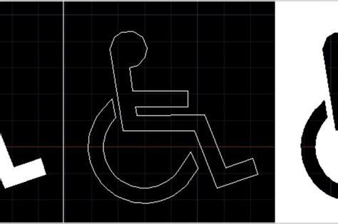 handicap parking sign autocad  cad model grabcad