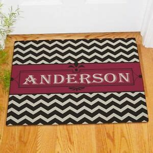 personalized family doormats personalized last name chevron family welcome doormat