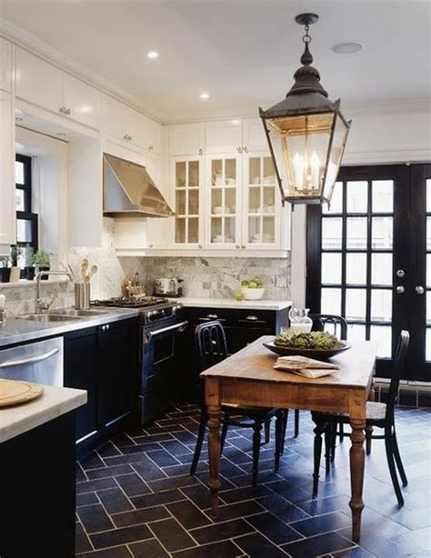 kitchens with black and white floors 25 beautiful black and white kitchens the cottage market 9632