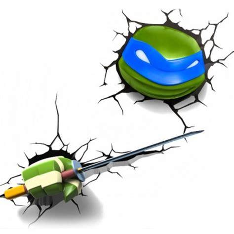 light blue ninja turtle 3d fx teenage mutant ninja turtle wall light tmnt