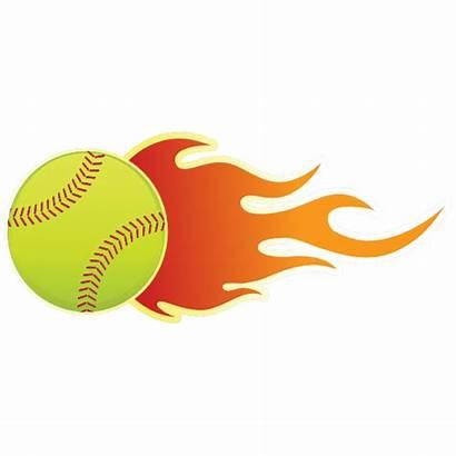 Softball Flames Clipart Flame Magnet Transparent Webstockreview