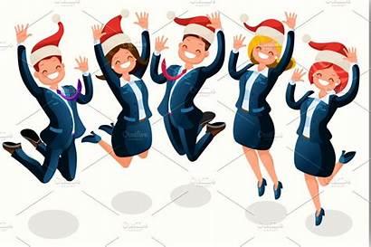 Office Christmas Party Cartoon Clipart Illustration Clip