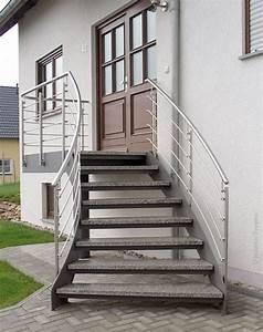 Treppe Preis Berechnen : aussentreppe mit podest pulverbeschichtet treppe selber bauen ~ Themetempest.com Abrechnung
