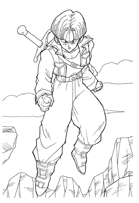 dragon ball  coloring pages vegeta  goku coloring home