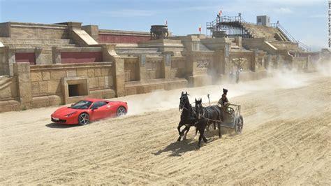 ferrari horse vs mustang horse ferrari races a horse drawn chariot on ben hur set cnn com