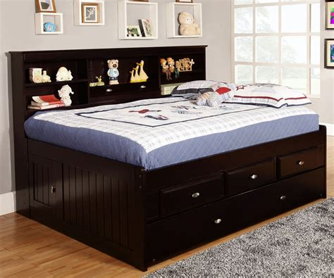 full size trundle beds espresso size bookcase captain s day bed with trundle 15347