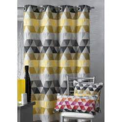 Rideau Jaune Blanc Gris by Rideau Jacquard Triangle Jaune Blancollection