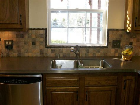 Slate Backsplash Ideas For The Kitchen : Fabulous Slate Mosaic Backsplash Ideas And Wooden Style