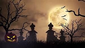 Halloween Graveyard Background Loop A Creepy Graveyard ...