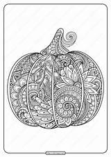 Coloring Zentangle Printable Pumpkin Adult sketch template
