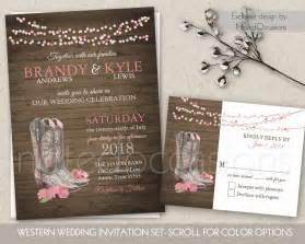 cowboy wedding invitations printable country western wedding invitations by notedoccasions